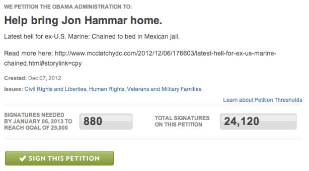 Jon Hammar petition